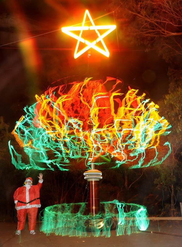 tesla christmas tree