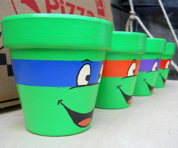 TMNT Flower Pots: Heroes in Your Herb Garden