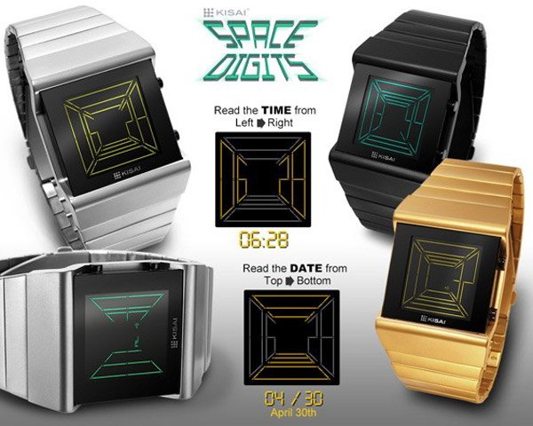 tokyoflash space digits digital date watch