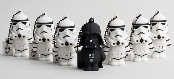 vader stormtrooper flash drives