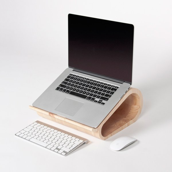 vool laptop stand wood photo