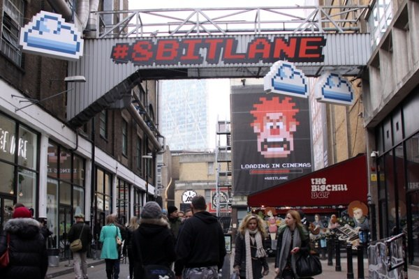 Disney Promote Wreck-It Ralph in London with 8-bit Lane