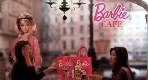 World's First Official Barbie Cafe Dolls up Taiwan