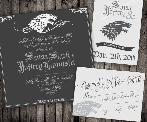 Game of Thrones Wedding Invitations: Winter is Coming, Are You?