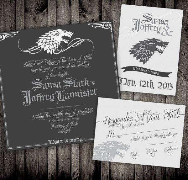 Game of Thrones invitations