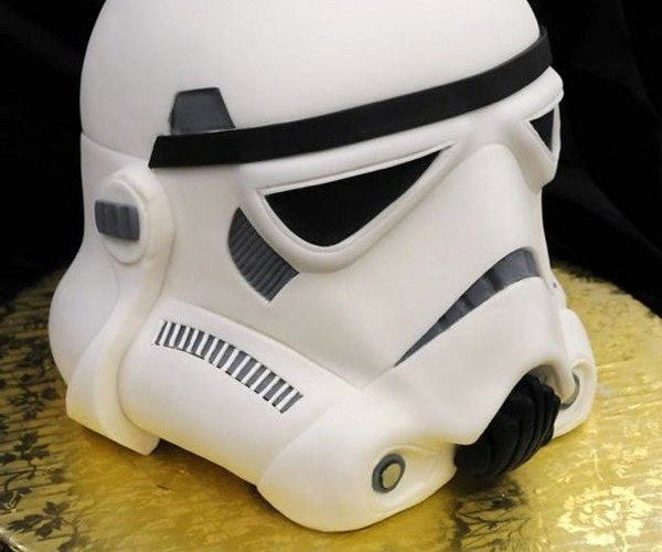 Stormtrooper Head Cake:  Slice It with a Lightsaber