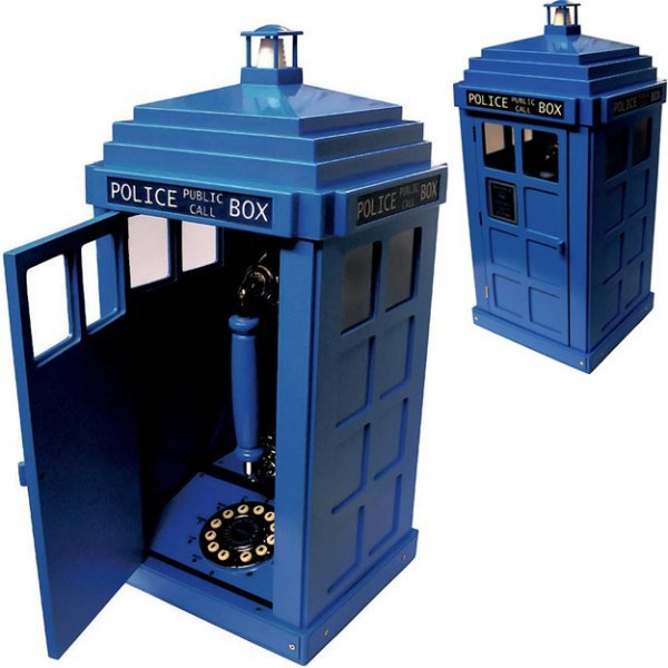 Tardis Phone Booth with an Actual Phone Inside