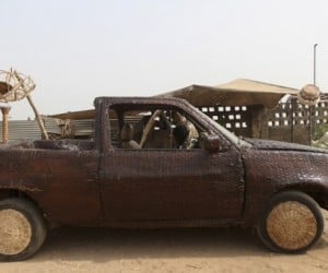 No Baskets Were Harmed in the Weaving of This Awesome Wicker-Covered Car