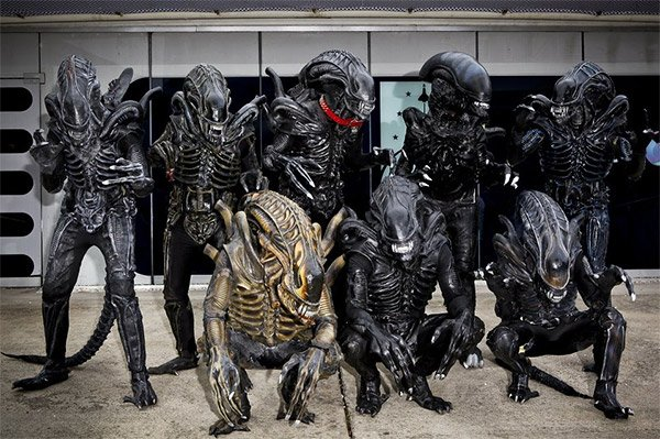 Alien Hive Gathers for Family Portrait