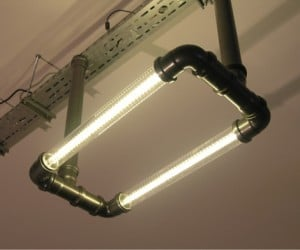 Atomic Clear Tube Lighting: Turn Your Pad into Your Steampunk HQ