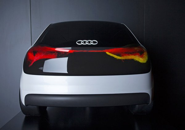audi oled technology swarm back photo