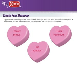 My Bitter Valentine: Order Some Custom Anti-Sweethearts Candies