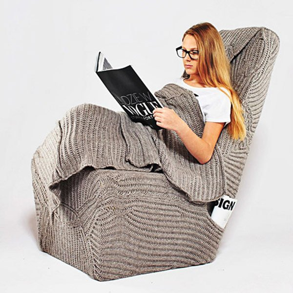 blanket chair cozy armchair aga brzostek reading photo