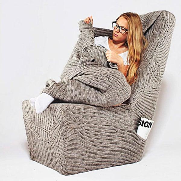 blanket chair cozy armchair aga brzostek wrapped photo