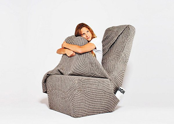 blanket chair cozy armchair aga brzostek