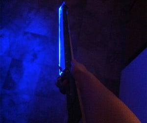 Custom LED Glowing Borderlands 2 Zer0 Sword: My Her0 Zer0