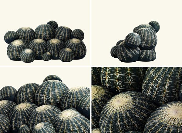 canape cactus sofa sides photo
