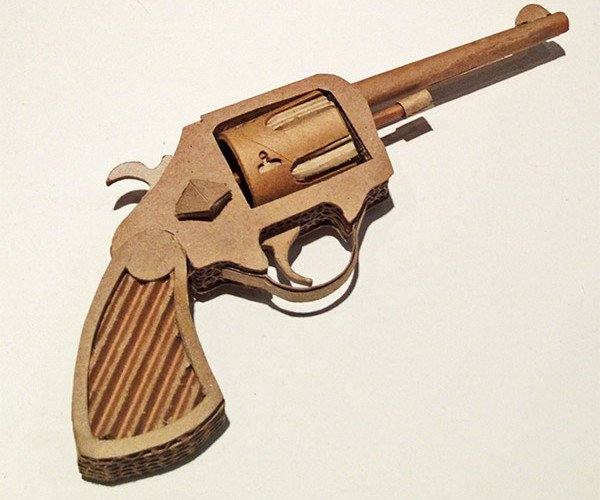 Cardboard Guns Pack a (Paper) Punch