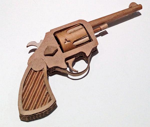 cardboard guns