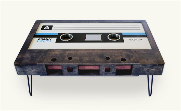 cassette tape table by tayble