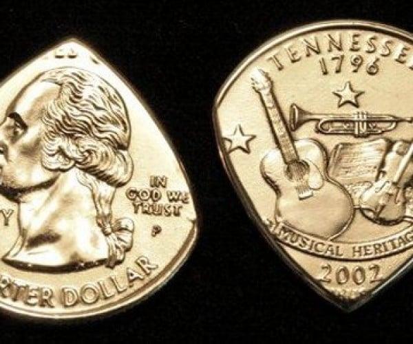 Coin Guitar Picks: Gimme Some Money
