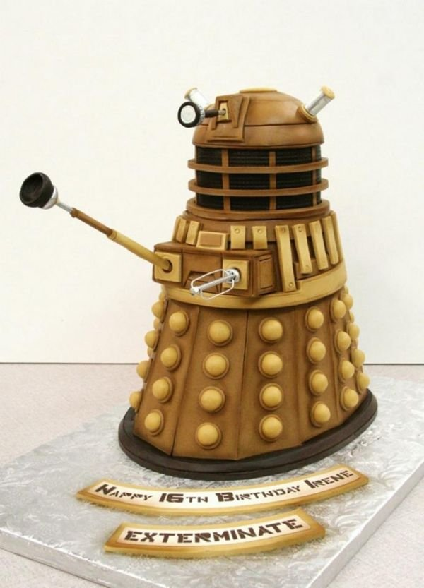 dalek cake for irene