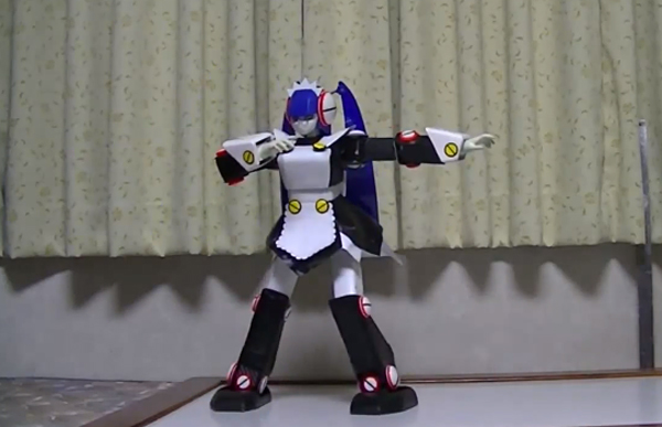 Tiny Maid Robot Serves Awesome Dance Moves