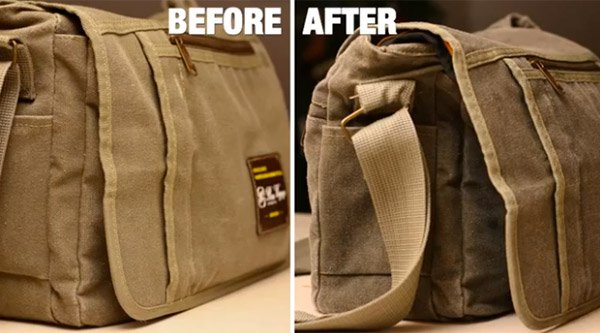 diy camera waxed canvas bag