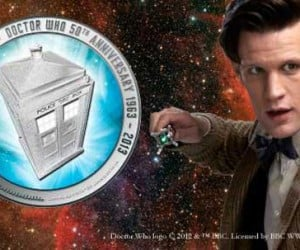 Doctor Who 50th Anniversary Silver Coin Can Be Spent in This Time and Space