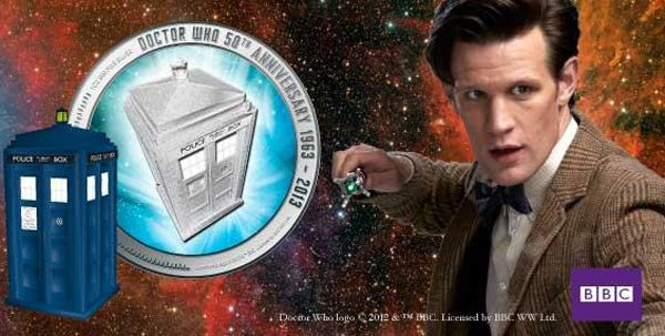 doctor who 50th anniversary silver coin