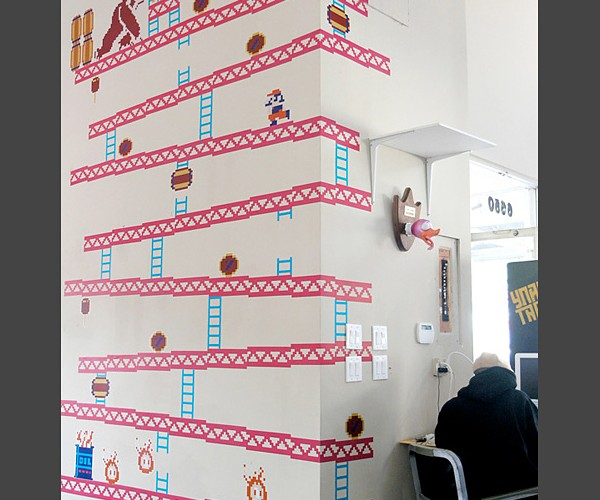Donkey Kong Wall Decals Are Worth a Lot of Tokens