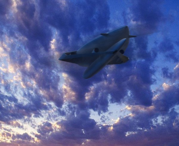 ecological airliner aircraft concept plane sunset photo