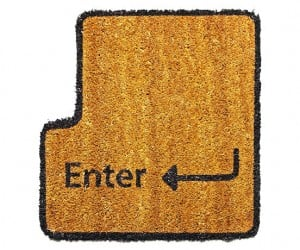 Enter Key Doormat: Type with Your Toes