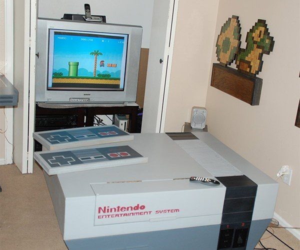 Giant NES System Living Room Furniture: We're Gonna Need a Bigger TV
