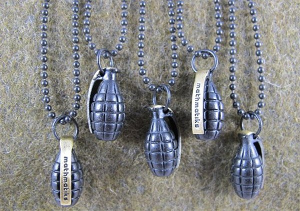 grenade necklace 1