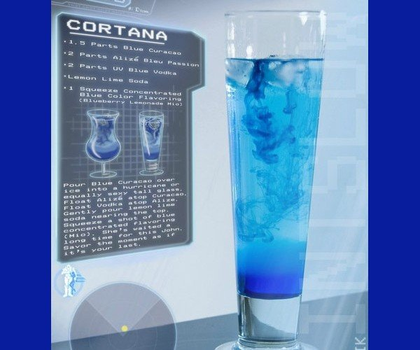 Halo 4 Cortana Cocktail Might Make You Feel Rampant