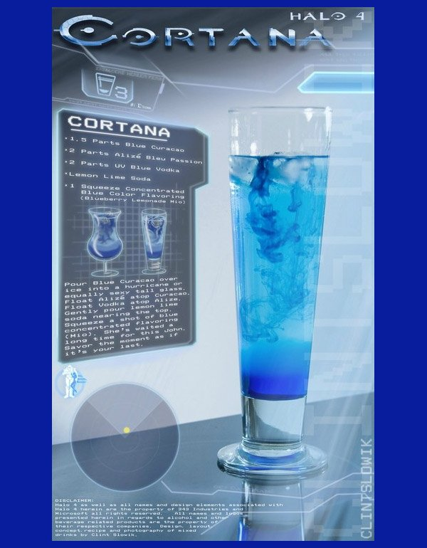 halo 4 cortana cocktail