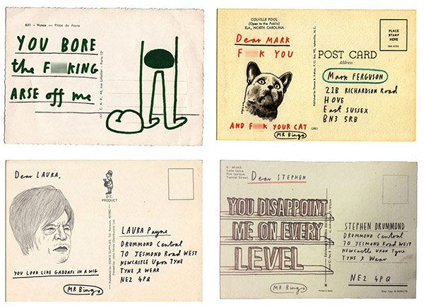 hate mail postcards