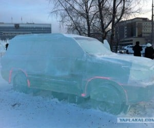 "Solid Ice Toyota Land Cruiser: Insert ""In Soviet Russia"" Joke Here"
