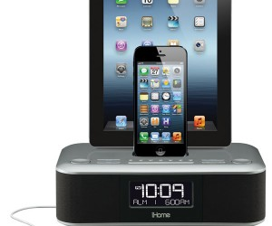 iHome iDL 100 Stereo Clock Dock Charges Three Gadgets at Once