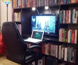 IKEA Expedit Workstation Hack: Bibiophiles Rejoice!