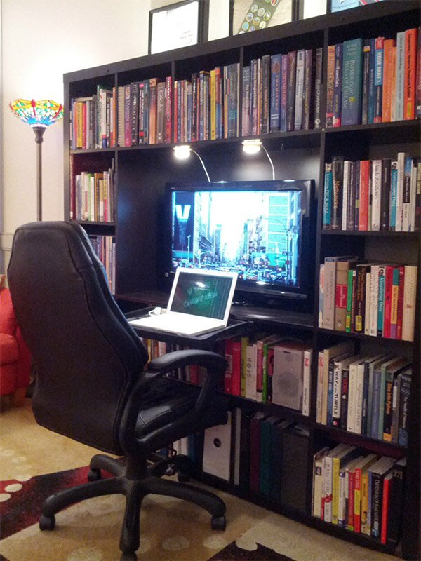 Ikea Expedit Workstation Hack Bibiophiles Rejoice