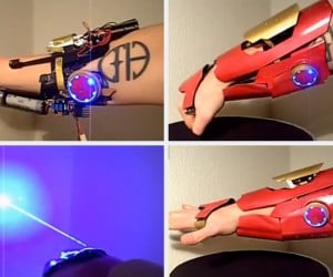 Iron Man Gauntlet Shoots Real Lasers