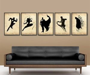 Justice League Silhouette Posters: For the Walls of Justice