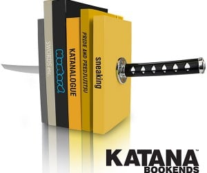 Katana Bookends Help You Slice Through Reading Material in Seconds