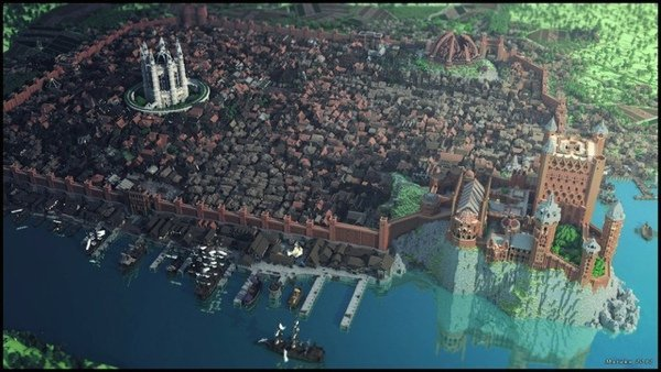 King's Landing Recreated in Minecraft: Pixels are Coming