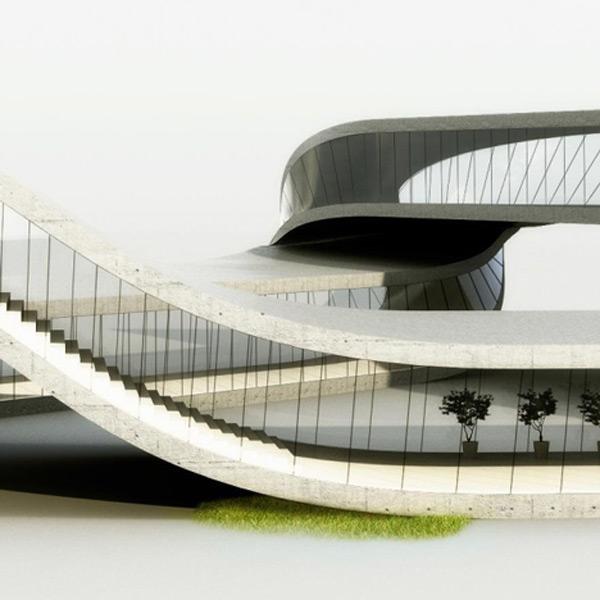 landscape house universe architecture side photo