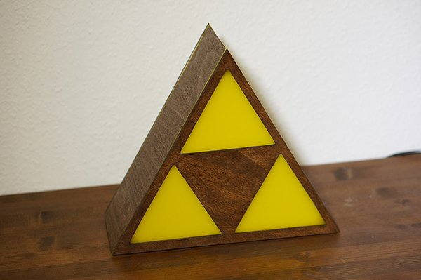 Perfect Legend Of Zelda Triforce Lamp By Eric Margera