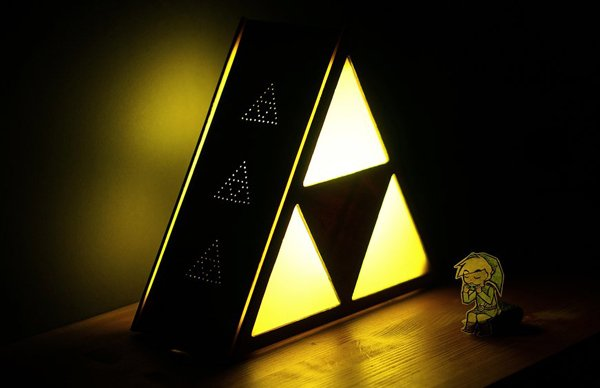 Legend Of Zelda Triforce Lamp By Eric Margera