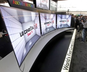 LG Unveils World's First Curved OLED TV